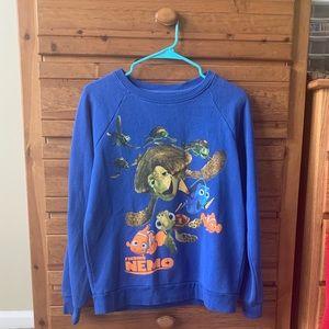 Blue Finding Nemo Themed Crew Neck Sweater